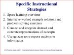 specific instructional strategies