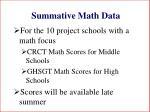 summative math data