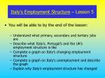 italy s employment structure lesson 5