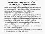 temas de investigaci n y desarrollo propuestos13