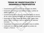 temas de investigaci n y desarrollo propuestos14