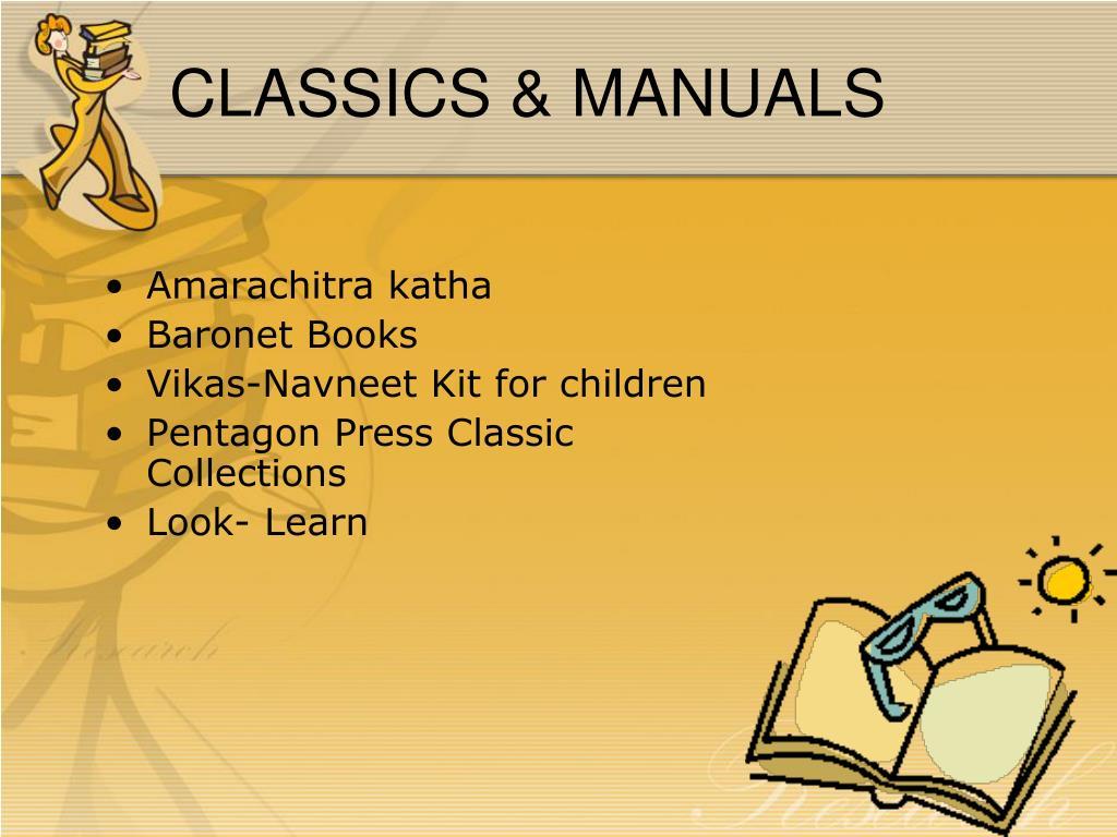 CLASSICS & MANUALS