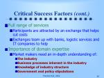 critical success factors cont30