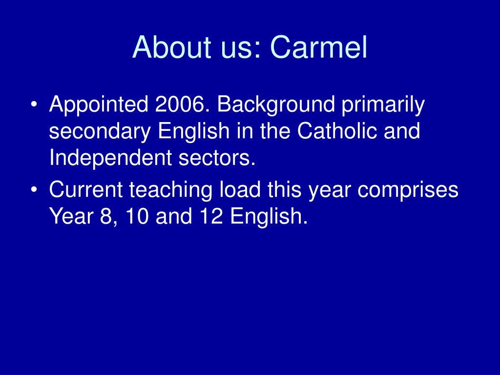 About us: Carmel