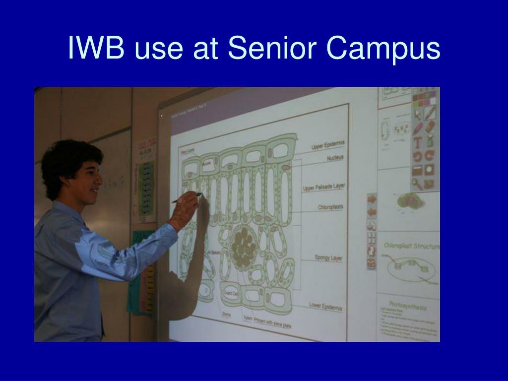 IWB use at Senior Campus