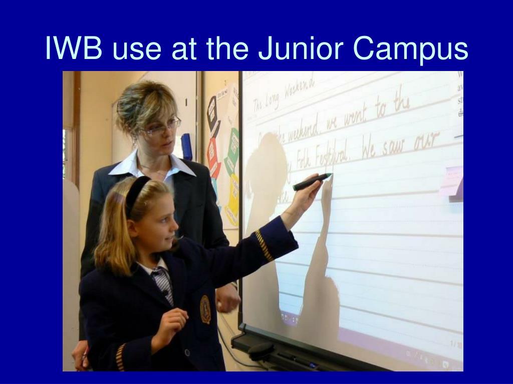 IWB use at the Junior Campus