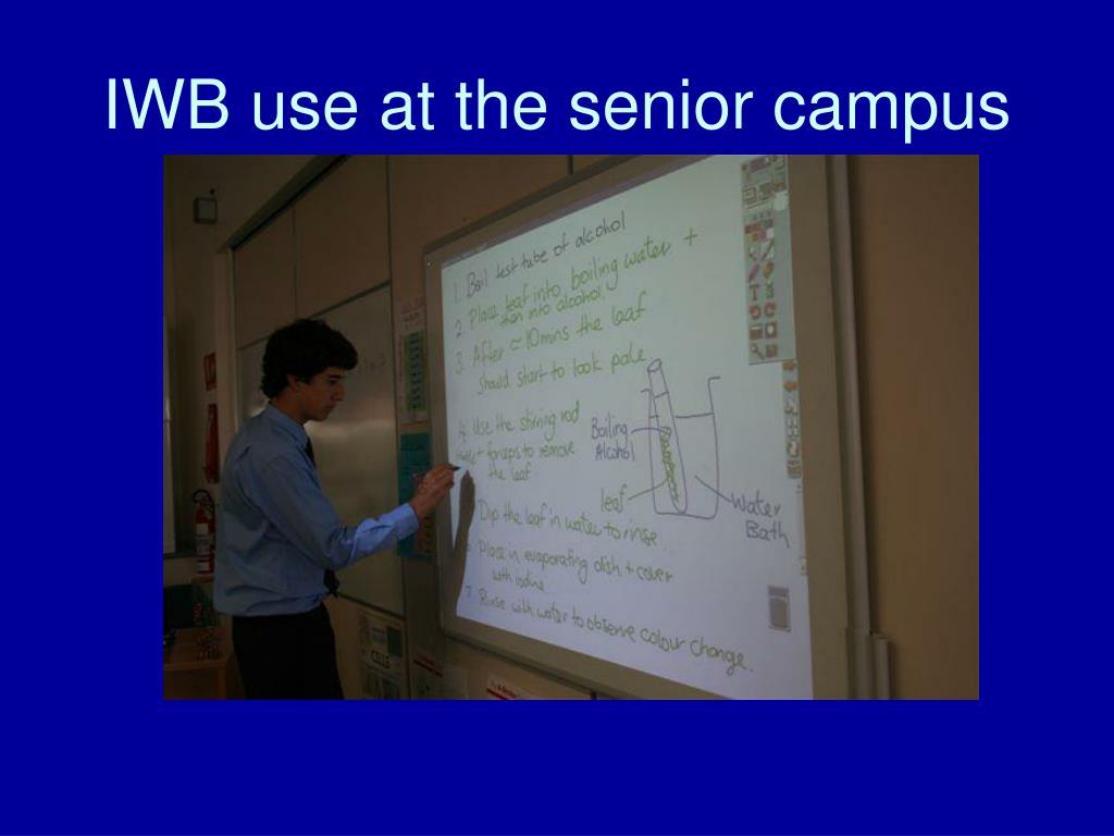 IWB use at the senior campus