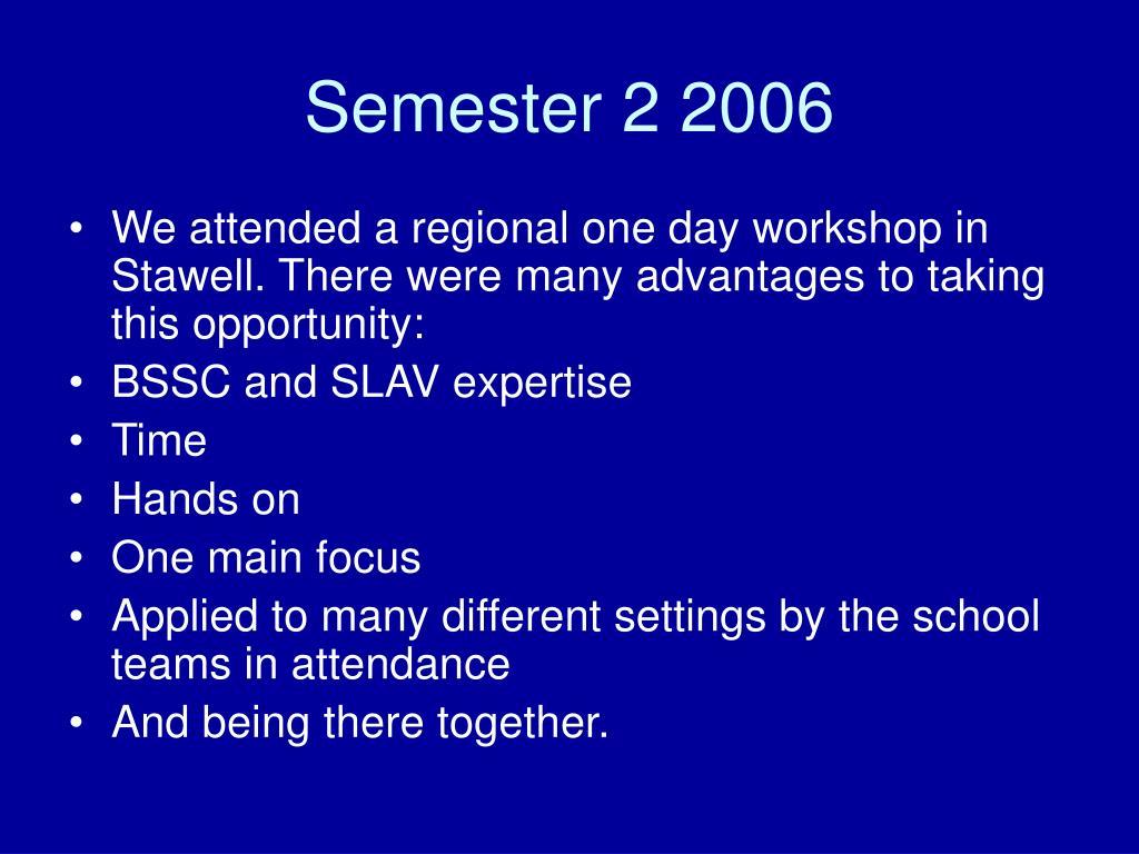 Semester 2 2006