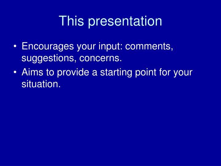 This presentation3