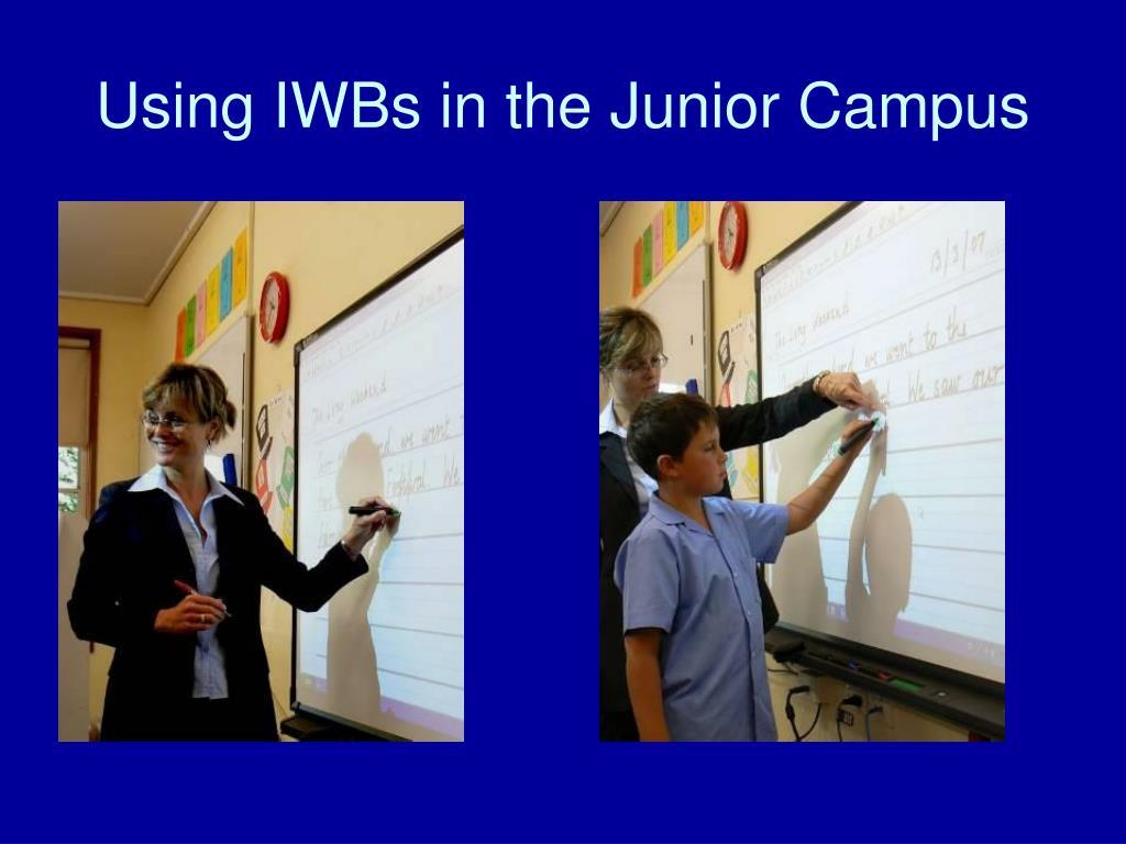 Using IWBs in the Junior Campus