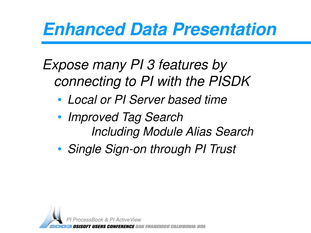 Enhanced Data Presentation