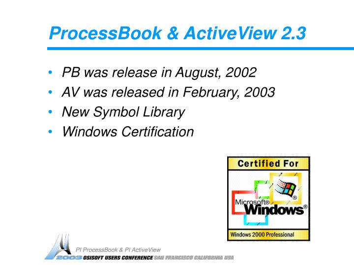 Processbook activeview 2 3