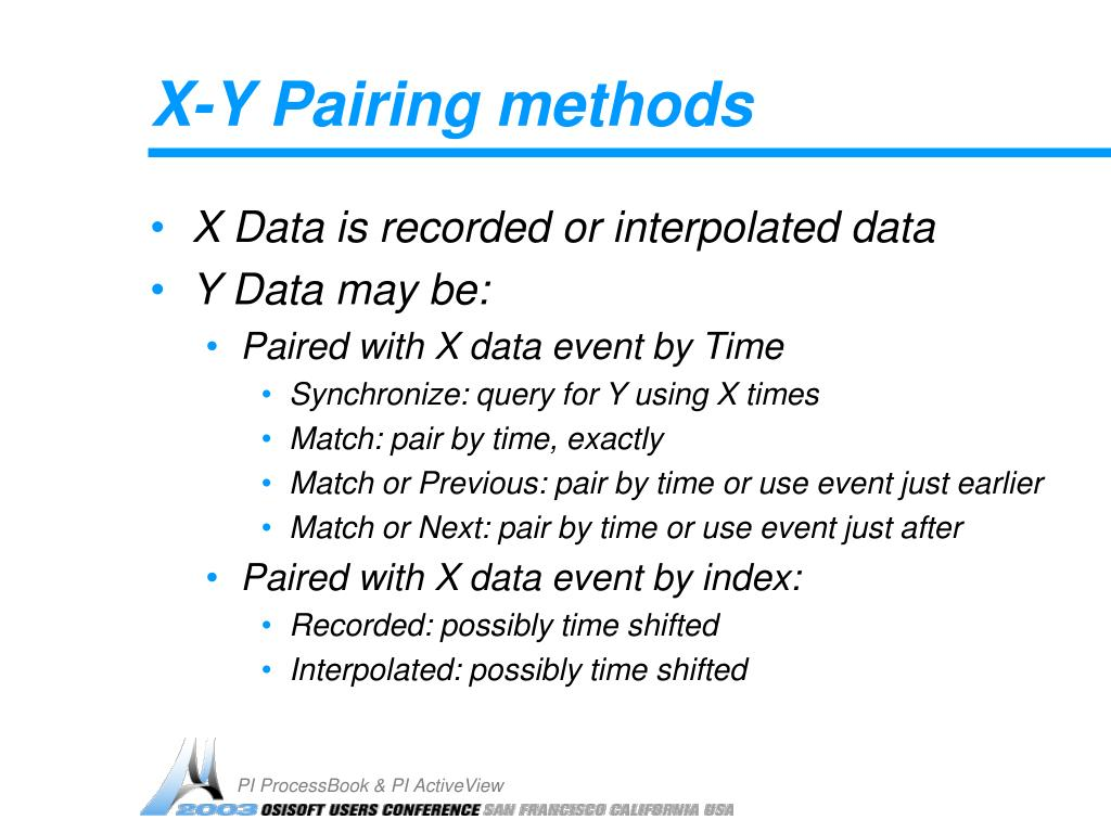X-Y Pairing methods