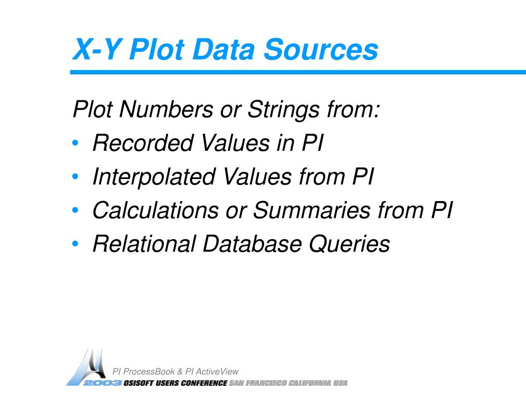 X-Y Plot Data Sources