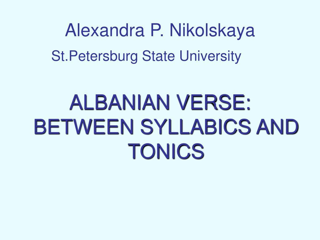 alexandra p nikolskaya l.