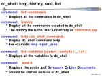 dc shell help history sold list