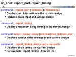 dc shell report port report timing