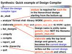 synthesis quick example of design compiler