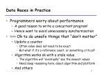 data races in practice