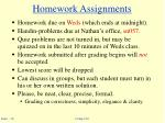 homework assignments