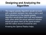 designing and analyzing the algorithm