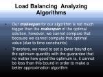 load balancing analyzing algorithms