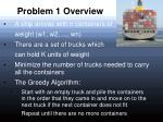 problem 1 overview