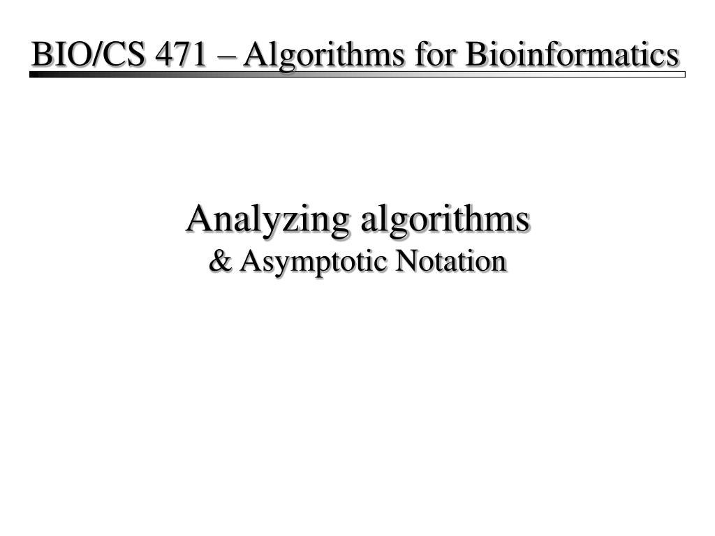analyzing algorithms asymptotic notation l.