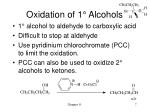 oxidation of 1 alcohols