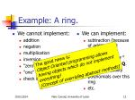 example a ring