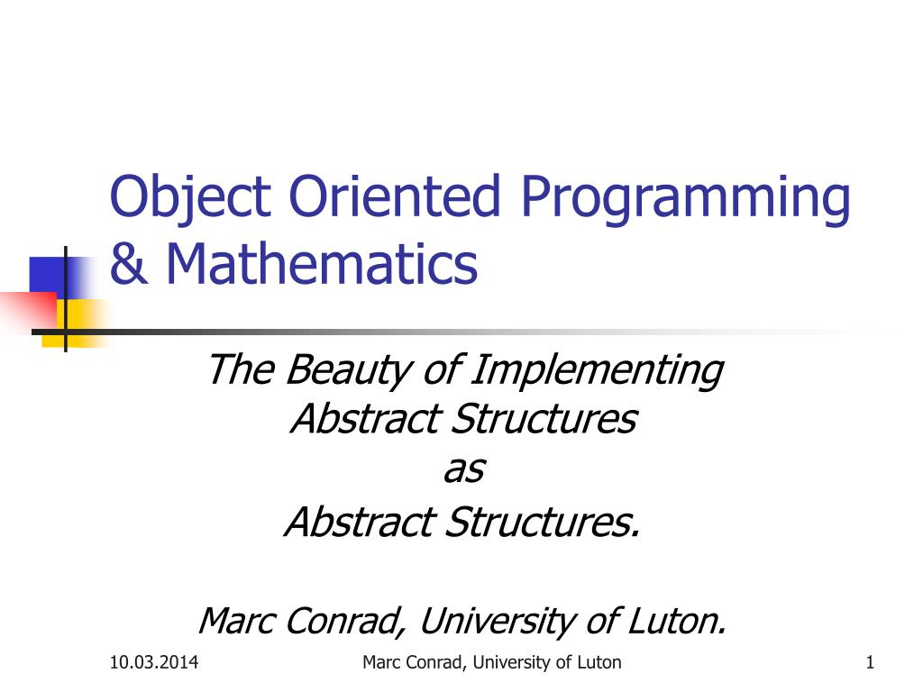 object oriented programming mathematics l.