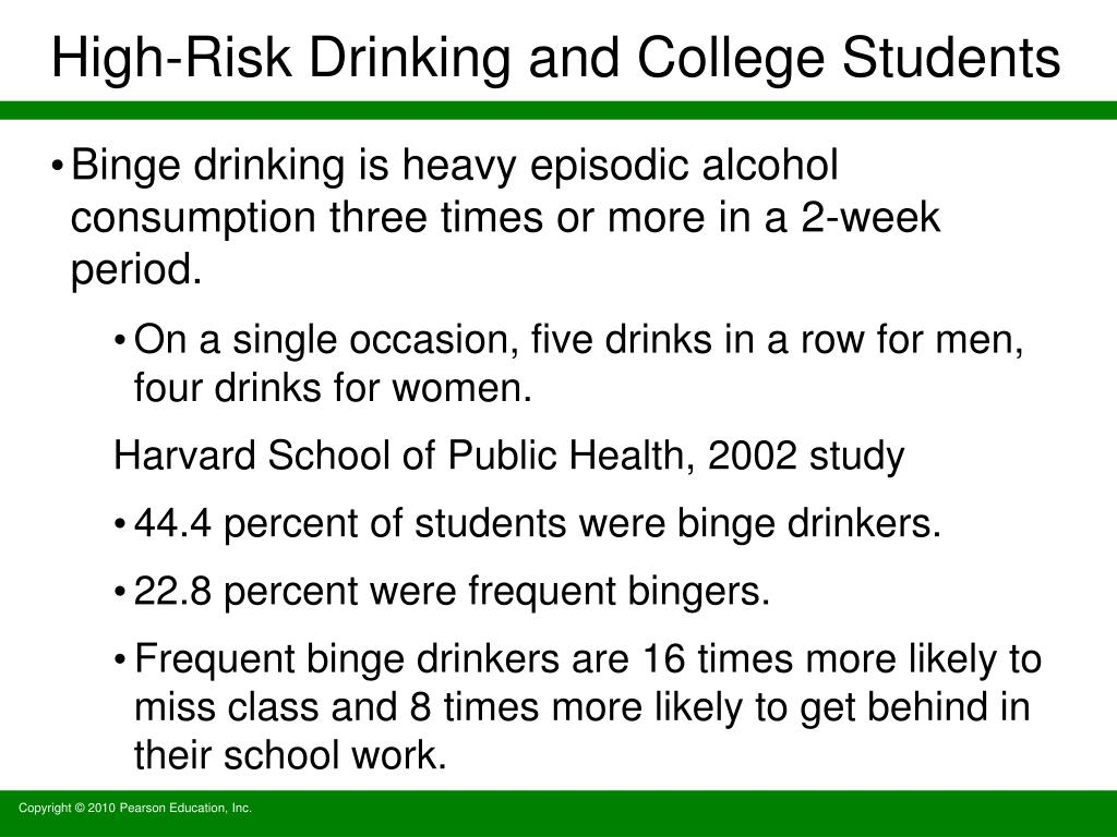 High-Risk Drinking and College Students