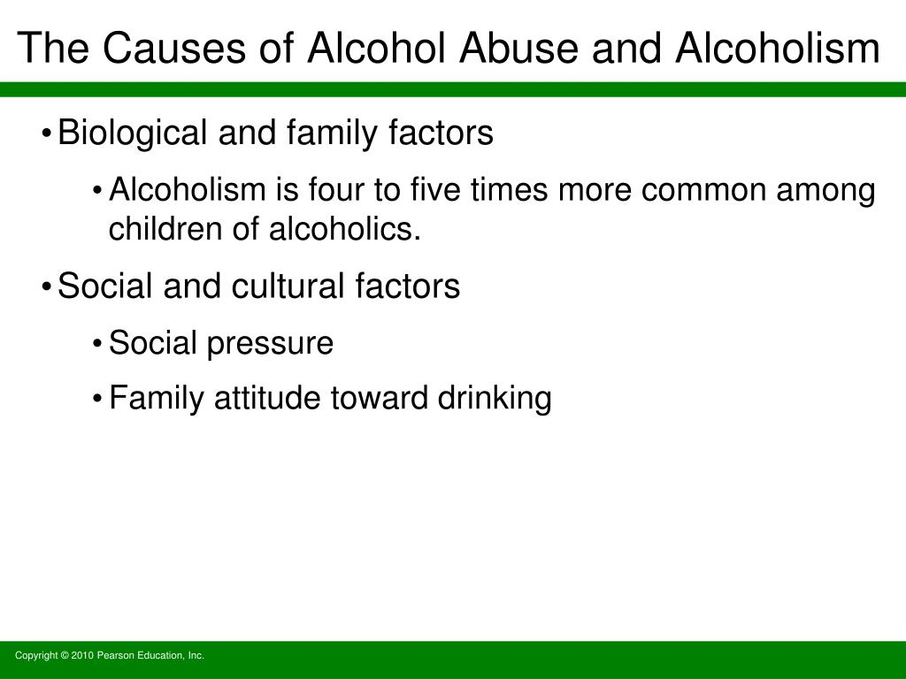 The Causes of Alcohol Abuse and Alcoholism