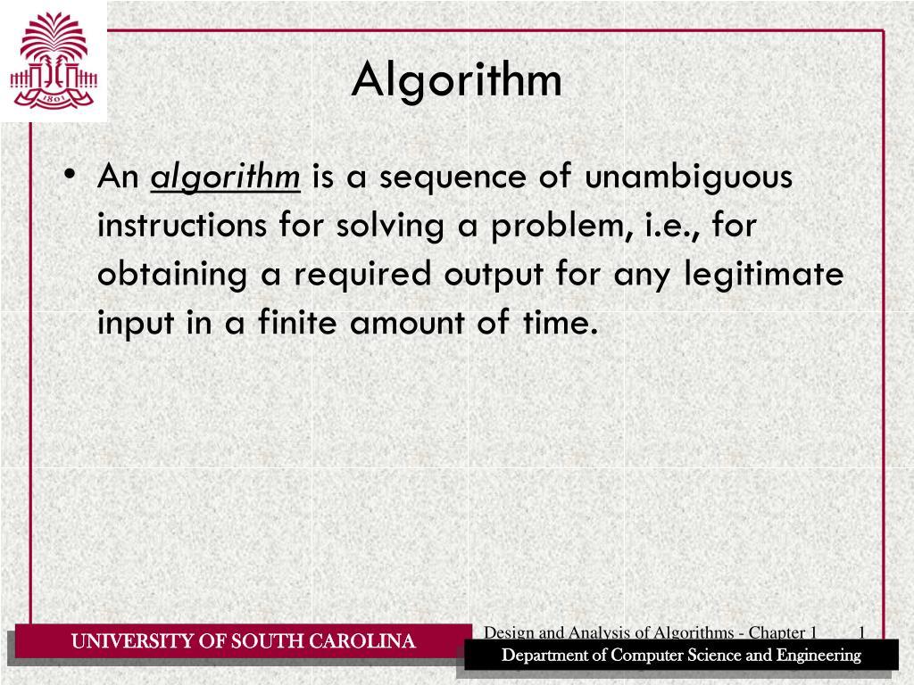 algorithm l.