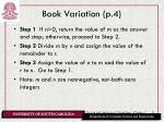 book variation p 4