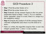 gcd procedure 2