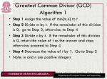 greatest common divisor gcd algorithm 1