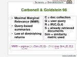carbonell goldstein 98