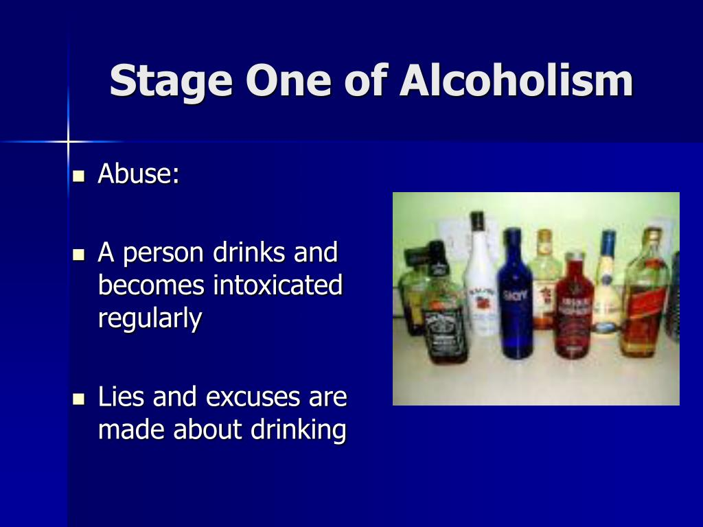 Stage One of Alcoholism
