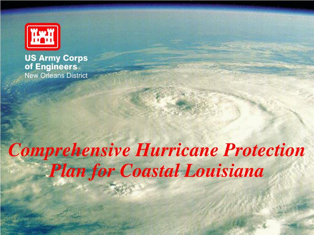 comprehensive hurricane protection plan for coastal louisiana l.