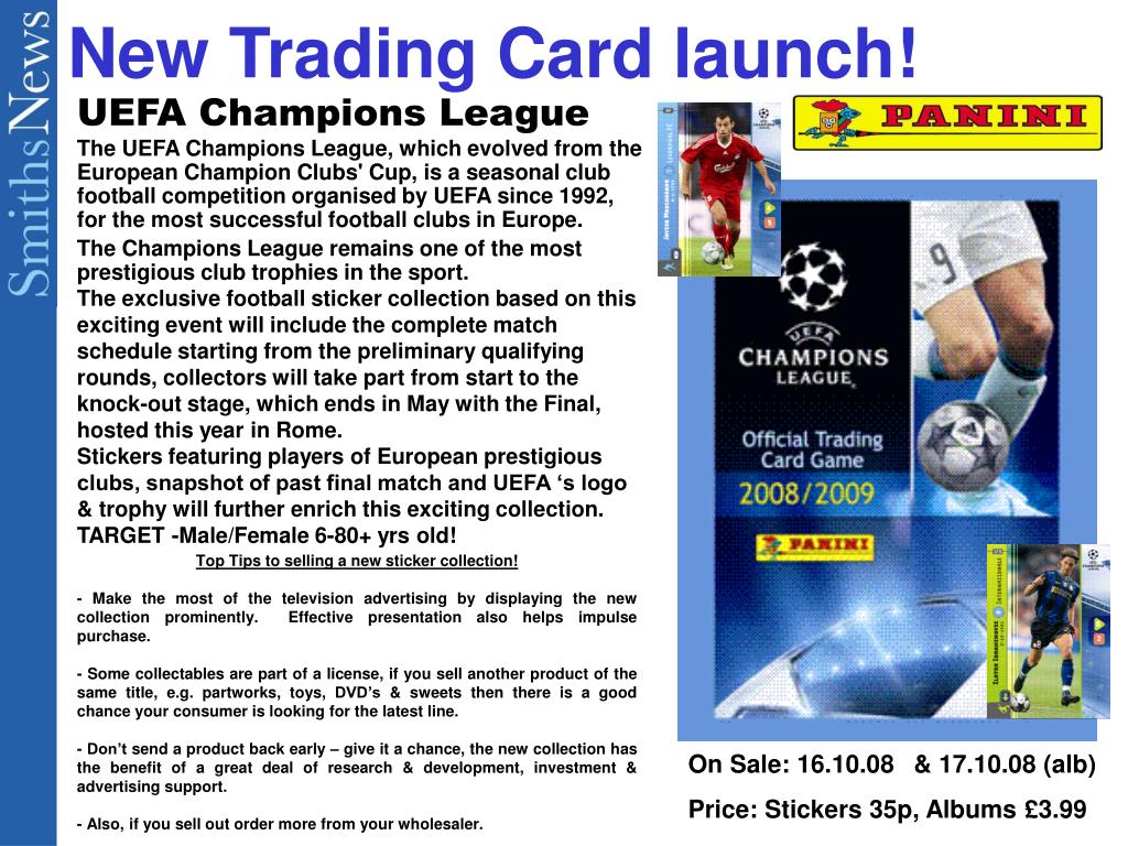 new trading card launch l.