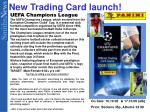 new trading card launch