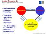 global tensions 2 national distribution of income