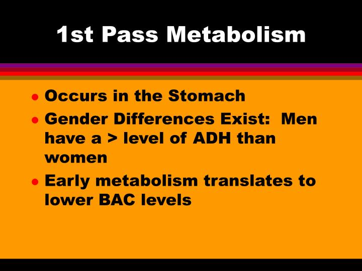 1st pass metabolism