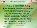 trends in hivaids modelling