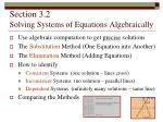 section 3 2 solving systems of equations algebraically