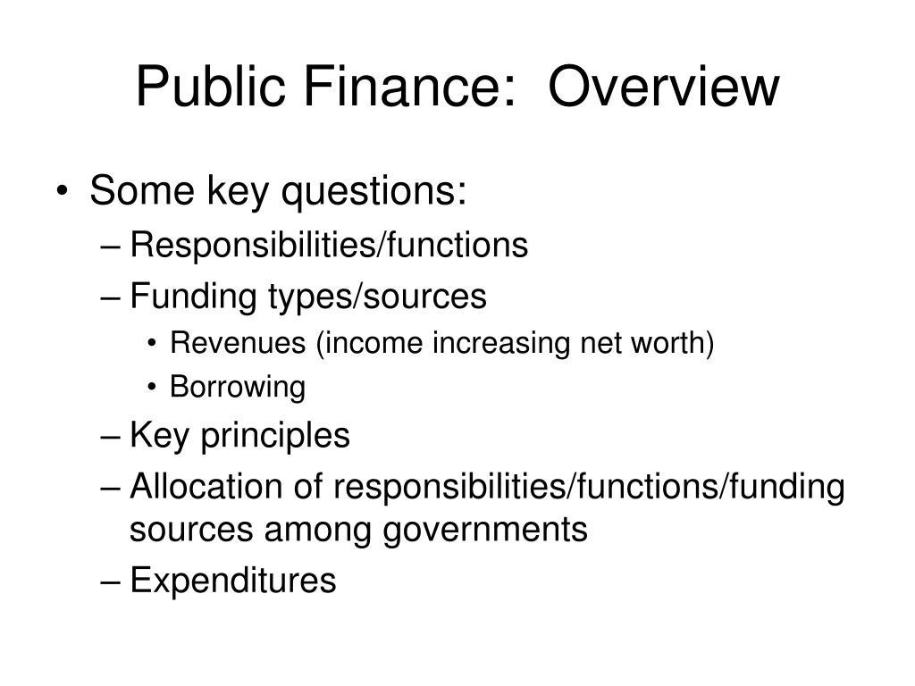 public finance overview l.