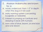 alaskan malamutes are known for a