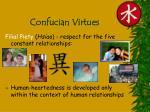 confucian virtues