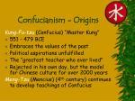 confucianism origins